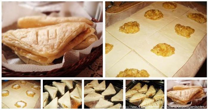 Печенье из слоеного бездрожжевого теста с начинкой рецепты