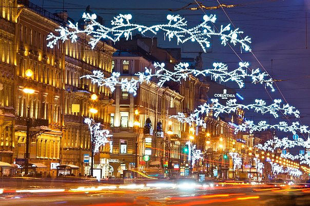 Новогодняя иллюминация Санкт-Петербурга6 (604x402, 379Kb)
