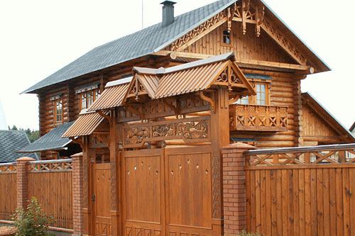 Русские деревянные дома фото