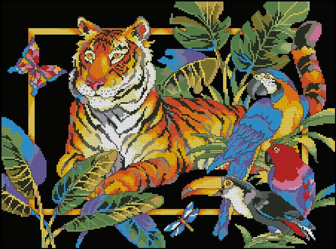 dw9440-tiger-and-parrots (678x504, 657Kb)