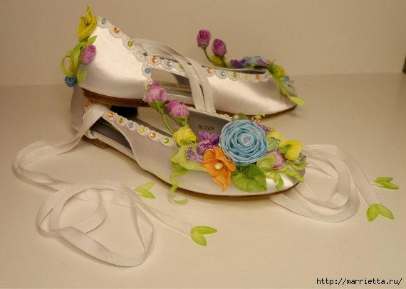 Цветы из ткани для украшения туфелек (19) (570x407, 94Kb)