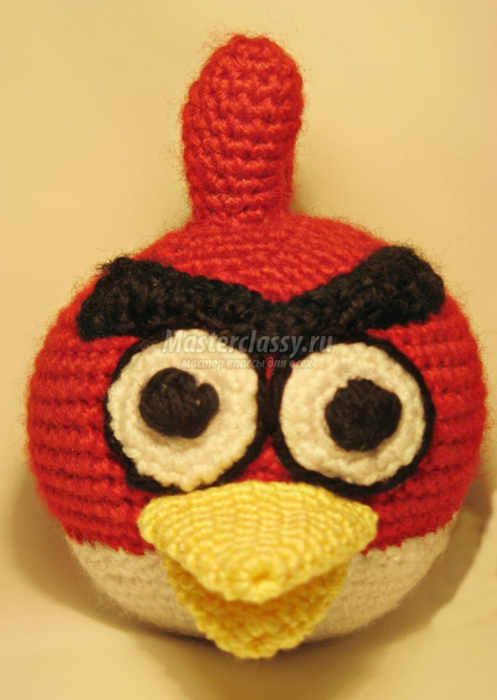 """Вязаная птичка из """"Angry Bird"""""""