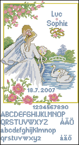 Vervaco 70.684-Wedding Sampler (303x558, 266Kb)