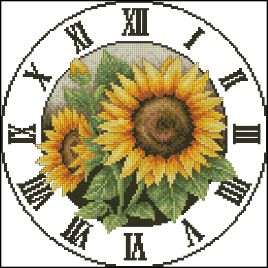 clock_sun_flowers (390x390, 216Kb)