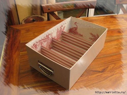 Органайзер из обувной коробки