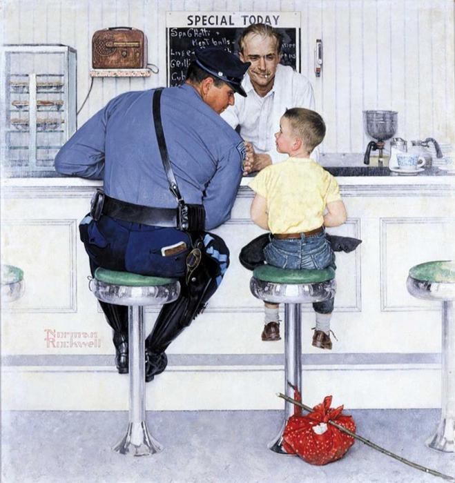 Живые иллюстрации Нормана Роквелла