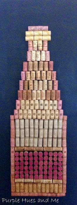 Панно ВИННАЯ БУТЫЛКА из винных пробок (13) (263x700, 243Kb)