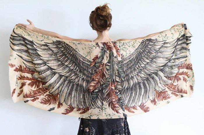 красивые женские платки 4 (700x466, 249Kb)