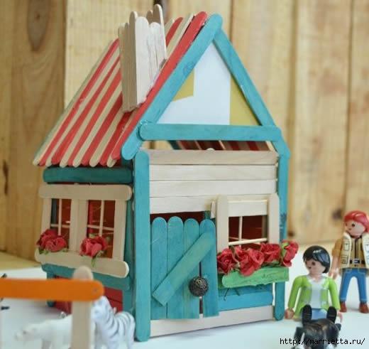 Сказочный домик из палочек от мороженого (1) (520x491, 117Kb)