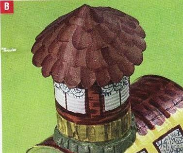 Сказочный паровозик из крышек и железных банок (8) (377x315, 115Kb)