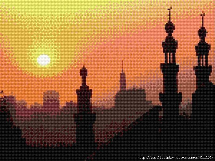 "Вышивка крестом ""Мечети на"
