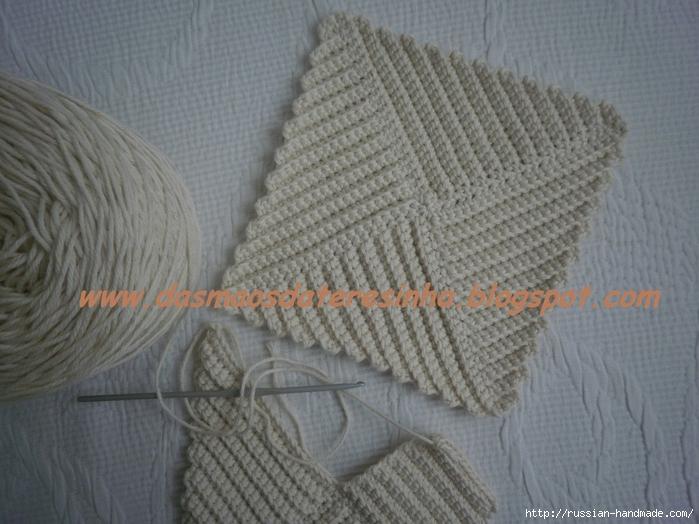 Как связать квадрат крючком для прихватки или пледа (1) (700x524, 275Kb)
