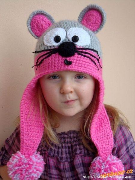 Шапочка МЫШКА с ушками для маленькой девочки (1) (450x600, 133Kb)