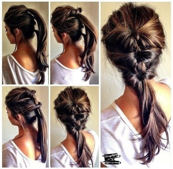 Повседневные причёски для средних волос своими руками фото
