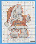 ������ Tatty Teddy Santa_chart (574x700, 707Kb)