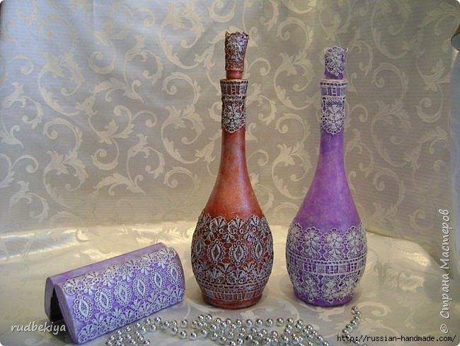 Декорирование бутылок в технике Сицилийское Кружево (1) (650x488, 182Kb)