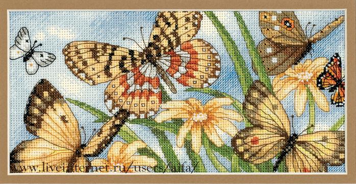 Вышивка, крестом схемы Бабочки