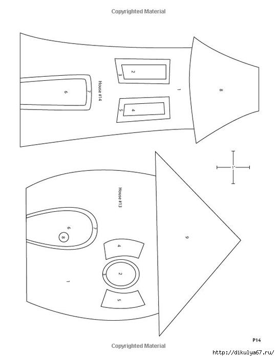 Выкройка бортиков в круглую кроватку