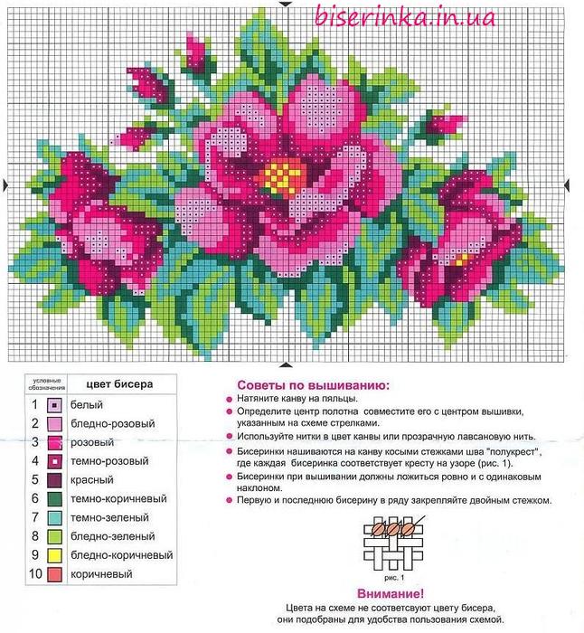 sxemy-dlya-vyshivki-biserom-cvety (646x700, 469Kb)