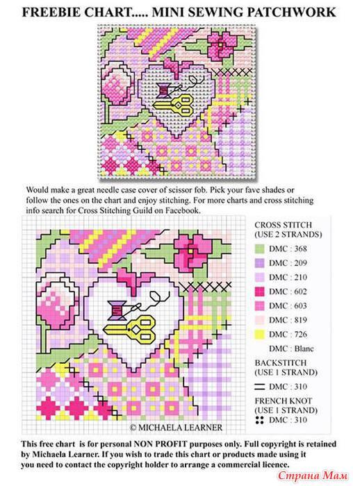 Схемы для пэчворк с вышивкой 905