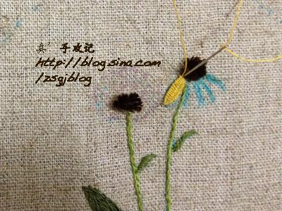 Объемная вышивка ромашек. Фото мк (2) (400x300, 205Kb)