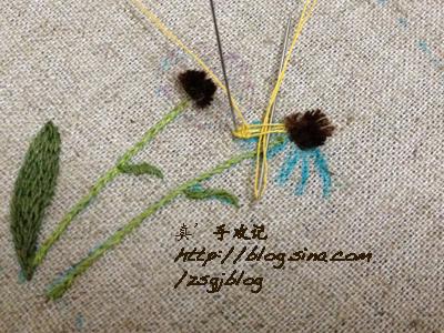 Объемная вышивка ромашек. Фото мк (10) (400x300, 209Kb)