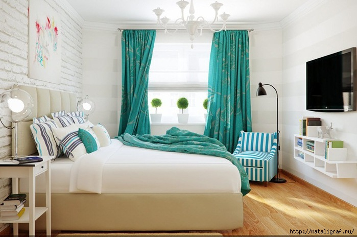 4045361_gorgeousturquisebedroomwithstripesthemedecor_2_ (700x464, 170Kb)