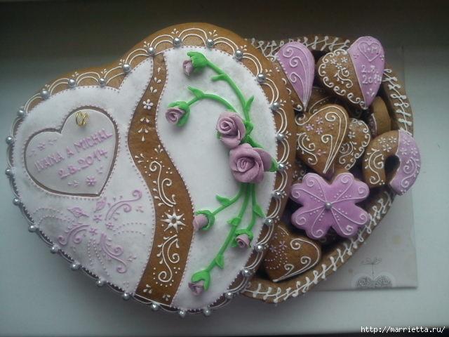 Сердечные пряники ВАЛЕНТИНКИ. Рецепт и красивые идеи (9) (640x480, 151Kb)
