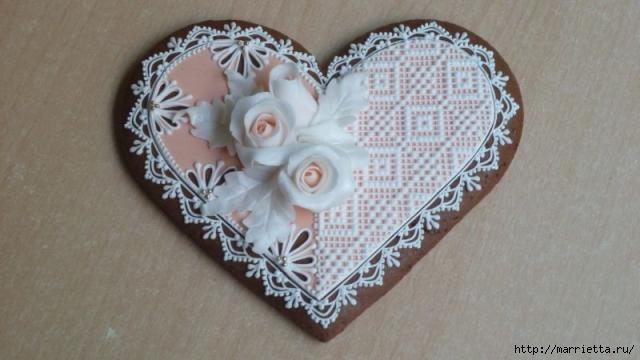 Сердечные пряники ВАЛЕНТИНКИ. Рецепт и красивые идеи (19) (640x360, 103Kb)