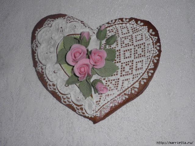 Сердечные пряники ВАЛЕНТИНКИ. Рецепт и красивые идеи (23) (640x480, 200Kb)