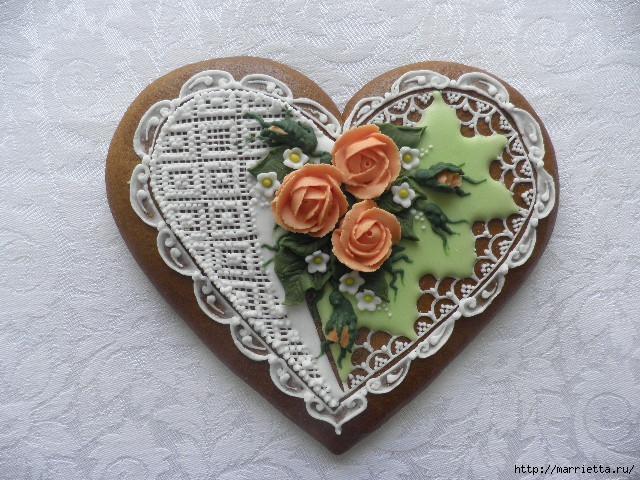 Сердечные пряники ВАЛЕНТИНКИ. Рецепт и красивые идеи (26) (640x480, 195Kb)