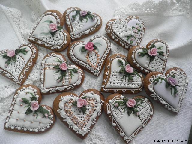 Сердечные пряники ВАЛЕНТИНКИ. Рецепт и красивые идеи (28) (640x480, 194Kb)