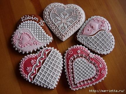 Сердечные пряники ВАЛЕНТИНКИ. Рецепт и красивые идеи (36) (430x322, 165Kb)