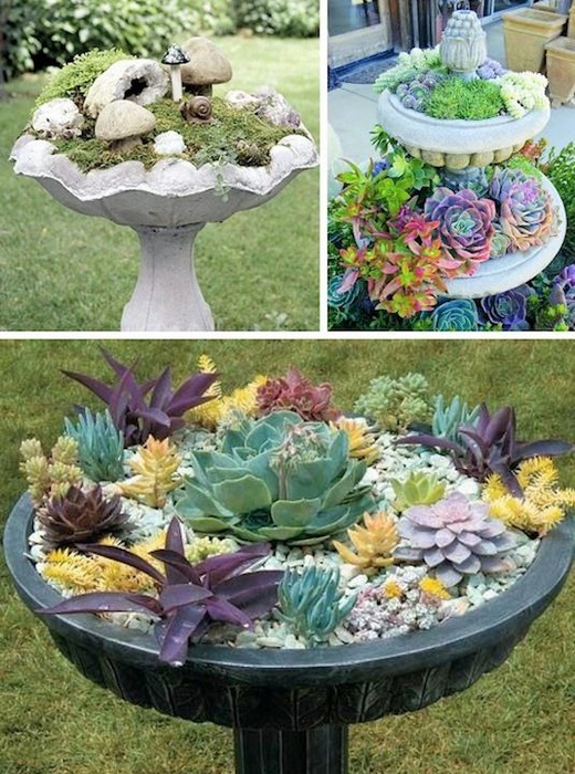 24-Creative-Garden-Container-Ideas-Bird-bath-planters-5 (520x700, 455Kb)