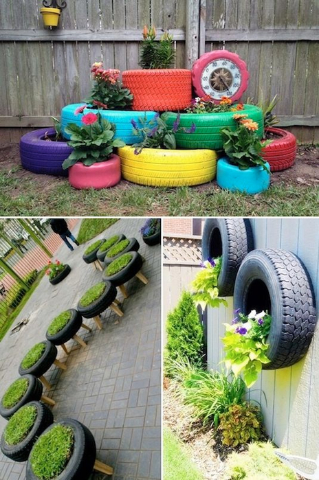 24-Creative-Garden-Container-Ideas-Tire-planters-4 (464x700, 411Kb)