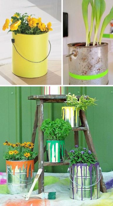 24-Creative-Garden-Container-Ideas-Use-paint-cans-as-planters-13 (385x700, 295Kb)