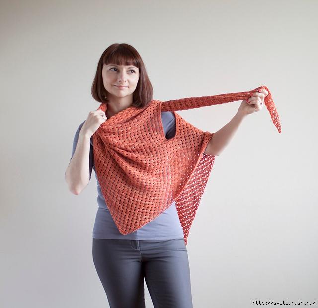 шарф-трансформер шаль-жилет спицами как вязать Беременость роды