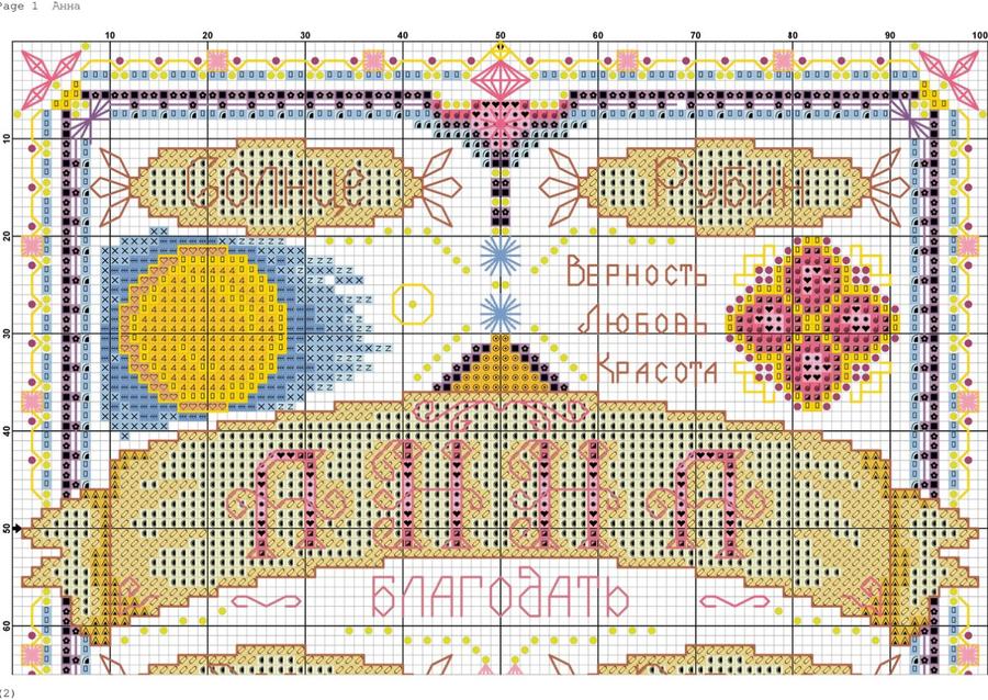 Схемы для вышивки панна оберег 256