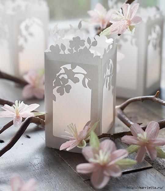 Весенние бумажные фонарики. Шаблон (6) (540x623, 163Kb)