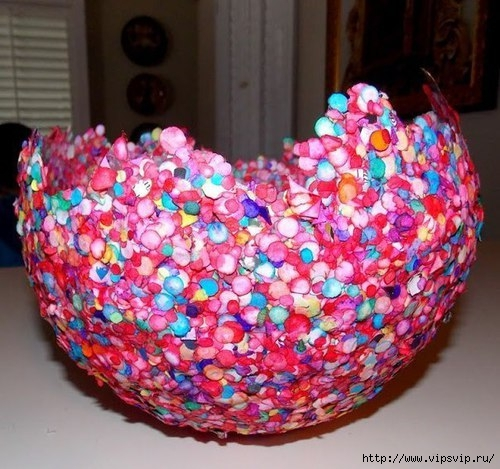 Ваза из конфетти и воздушного шарика3 (500x469, 176Kb)