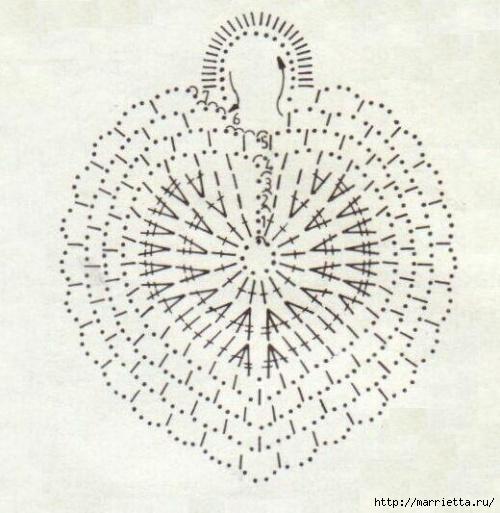 Подвеска сердечко крючком (1) (500x513, 156Kb)