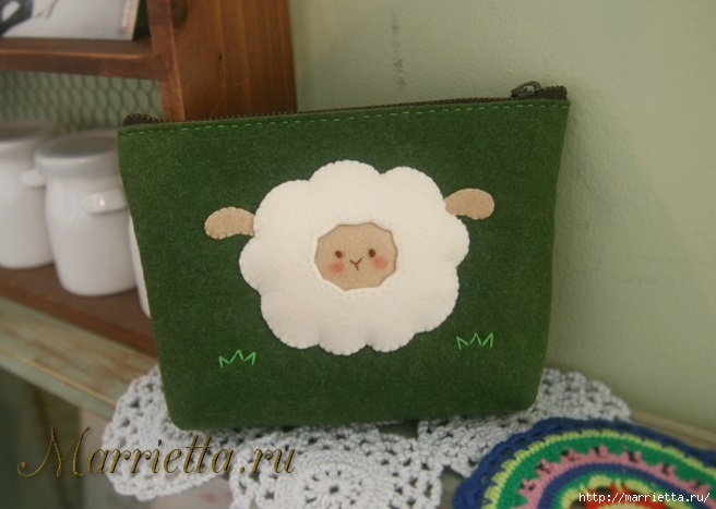 Шьем кошелек с аппликацией овечки (2) (656x467, 143Kb)