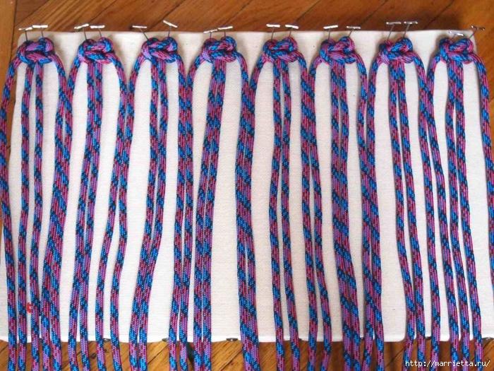 Плетение коврика из веревки (5) (700x525, 419Kb)