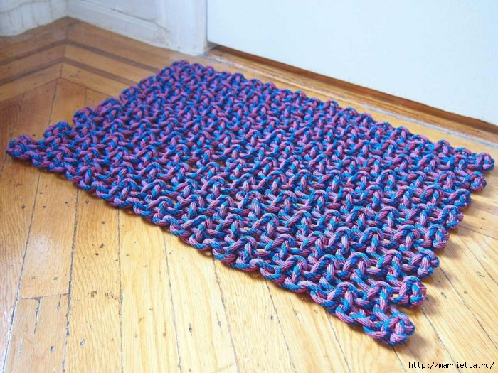 Плетение коврика из веревки (17) (700x525, 348Kb)