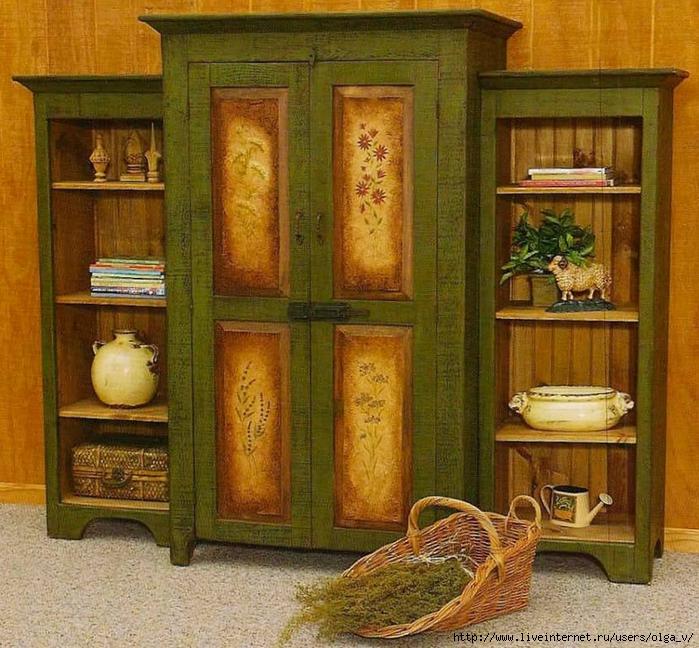 Покраска мебели под старину
