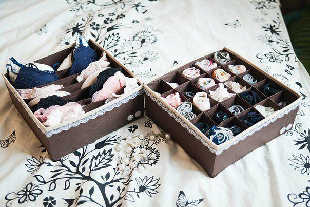 Органайзеры для белья своими руками из картона