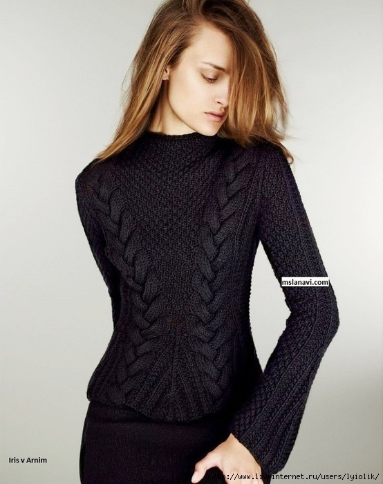 модный-пуловер-спицами-Iris-von-Arnim (554x700, 196Kb)