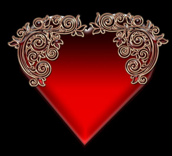 Клипарт. Красивые сердечки в png (2) (584x529, 247Kb)