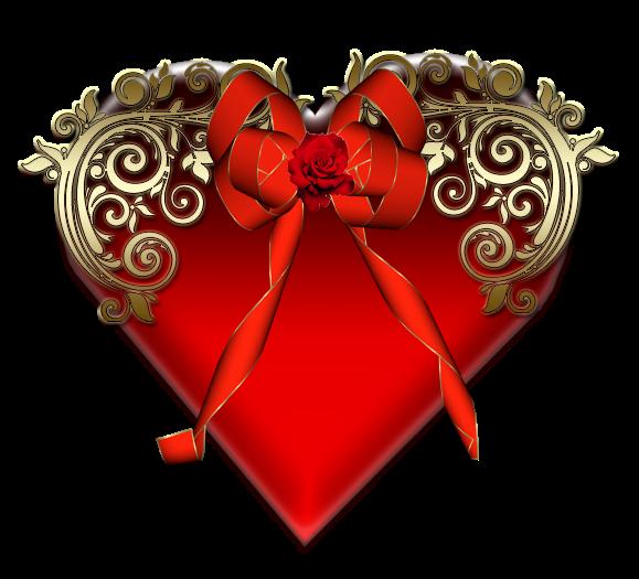 Клипарт. Красивые сердечки в png (6) (579x525, 285Kb)