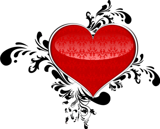 Клипарт. Красивые сердечки в png (12) (544x438, 131Kb)